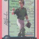 1998 Bowman Chrome International Refractors # 216 A J Hinch A's