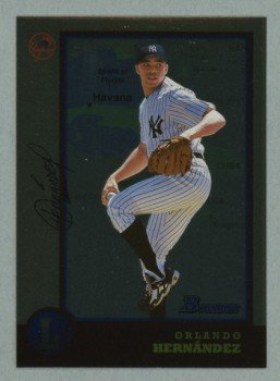1998 Bowman International # 221 Orlando Hernandez RC White Sox Rookie