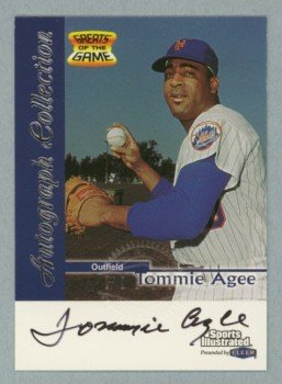 1999 Sports Illustrated Greats of the Game Autographs # 1 Tommie Agee Mets Auto