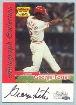 1999 Sports Illustrated Greats of the Game Autographs # 25 George Foster Reds Auto