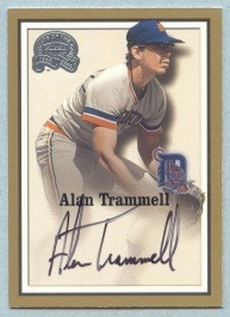 2000 Greats of the Game Autographs # 86 Alan Trammell MT Tigers Auto