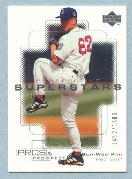 2000 UD Pros & Prospects # 136 Sun-Woo Kim RC #d 1452 of 1600 Rookie