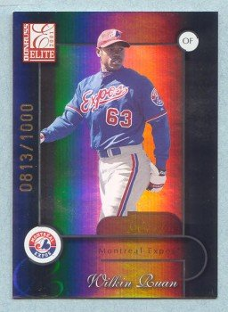 2001 Donruss Elite # 191 Wilkin Ruan SP RC #d 0813 of 1000 Expos Rookie