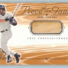 2001 SP Game Bat Edition Piece of the Game # JC Jose Canseco GU Bat SP
