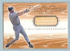 2001 SP Game Bat Edition Piece of the Game # MW Matt Williams GU Bat SP