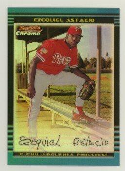 2002 Bowman Chrome Refractors # 286 EZEQUIEL ASTACIO RC #d 047 of 500 Rookie Astros