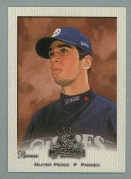 2002 Donruss Diamond Kings Crowning Moment # 153 OLIVER PEREZ RC Padres Rookie
