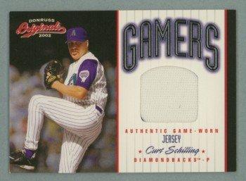 2002 Donruss Originals Gamers # G-3 Curt Schilling #d 031 of 250 GU Jersey