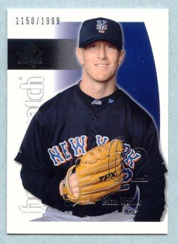 2002 SP Authentic Future Watch # 119 Adam Walker RC #d 1150 of 1999 Rookie Mets