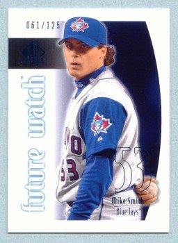 2002 SP Authentic Limited Future Watch # 96 Mike Smith #d 061 of 125 Blue Jays