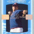 2002 Sweet Spot Beginnings # 91 Earl Snyder RC #d 0410 of 1300 Rookie Indians
