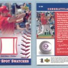 2002 UD Sweet Spot Swatches # S-SR SCOTT ROLEN 2-color GU Jersey