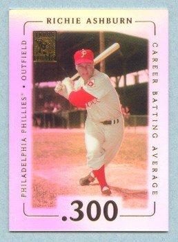 2002 Topps Tribute # 21 Richie Asburn HOF .300 Career Batting Average in 1962