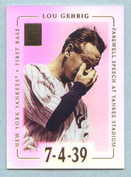 2002 Topps Tribute # 39 Lou Gehrig HOF Farewell Speech at Yankee Stadium 7-4-39