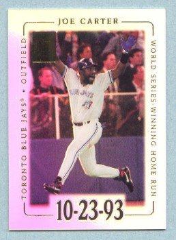 2002 Topps Tribute # 5 Joe Carter World Series Winning Home Run 10-23-93