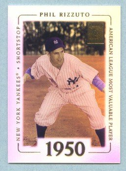 2002 Topps Tribute # 51 Phil Rizzuto HOF AL Most Valuable Player 1950