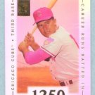 2002 Topps Tribute # 68 Ron Santo 1250 Career Runs Batted in 1973