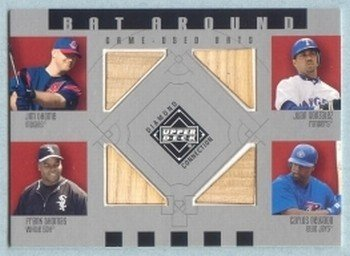 2002 UD Diamond Connection Bat Around Quads # BA-TGTD Thome Gonzalez Thomas Delgado GU Bat