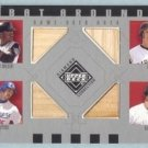 2002 UD Diamond Connection Bat Around Quads # BA-WGGH Wilson Giles Green Helton GU Bat