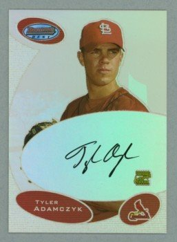 2003 Bowman's Best First Year Autograph # BB-TA Tyler Adamczyk Auto RC Rookie