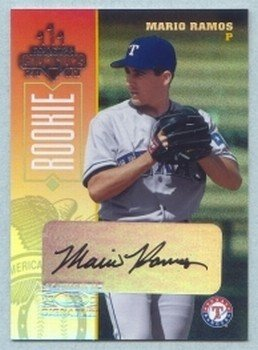 2003 Champions Autographs # 261 Mario Ramos #d 164 of 475 Rangers A's Auto