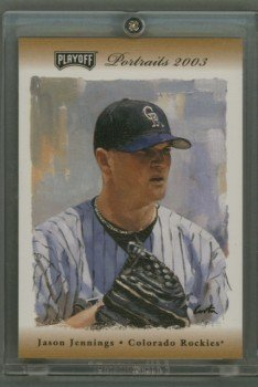 2003 Playoff Portraits Bronze # 9 Jason Jennings GU Jersey #d 029 of 100