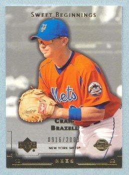 2003 Sweet Spot Beginnings # 157 Craig Brazell RC #d 0916 of 2003 Rookie