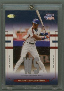 2004 Donruss World Series Blue Material Fabric # WS-64 Darryl Strawberry GU Jersey #d 29 of 86