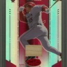 2004 Leaf Certified Materials Mirror Fabric Red # 192 Tim Salmon GU Bat #d 052 of 150