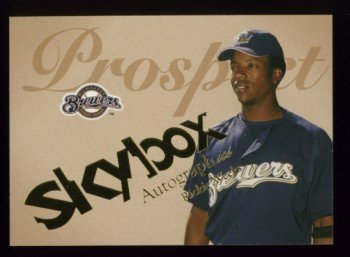 2004 Skybox Autographics Prospect # 66 Rickie Weeks #d 1219 of 1500 Brewers