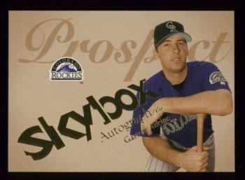 2004 Skybox Autographics Prospect # 75 Garrett Atkins #d 0176 of 1500 Rockies
