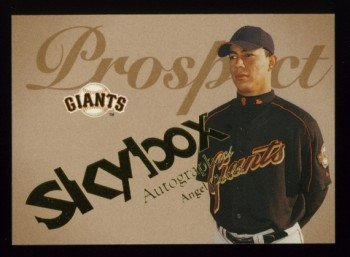 2004 Skybox Autographics Prospect # 87 Angel Chavez RC #d 0984 of 1500 Giants Rookie