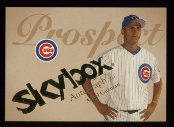 2004 Skybox Autographics Prospect # 88 Angel Guzman #d 0861 of 1500 Cubs
