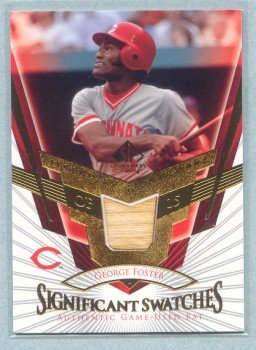 2004 SP Legendary Cuts Significant Swatches # SS-GF George Foster GU Bat Reds