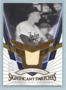 2004 SP Legendary Cuts Significant Swatches # SS-JP Johnny Podres GU Jersey Dodgers