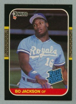 1987 Donruss Rated Rookie # 35 Bo Jackson RC Royals Rookie