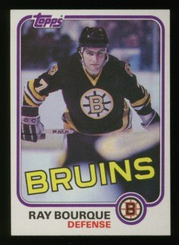 1981-82 Topps # 5 -- Ray Bourque, Bruins