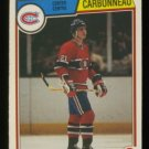 1983-84 OPC # 185 Guy Carbonneau RC, Canadiens, Rookie