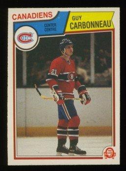 1983-84 OPC # 185 Guy Carbonneau RC, Canadiens, Rookie