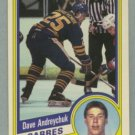 1984-85 OPC # 17 Dave Andreychuk RC, Sabres, Rookie
