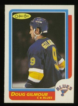 1986-87 OPC # 93 -- Doug Gilmour, Blues