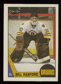 1987-88 OPC # 13 -- Bill Ranford RC UER, Rookie, Bruins