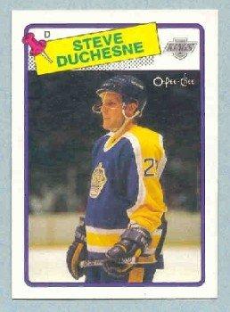 1988-89 OPC # 182 -- Steve Duchesne RC