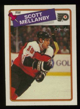 1988-89 OPC # 21 -- Scott Mellanby RC, Rookie, Flyers