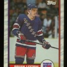 1989-90 Topps # 136 -- Brian Leetch RC, Rookie, Rangers