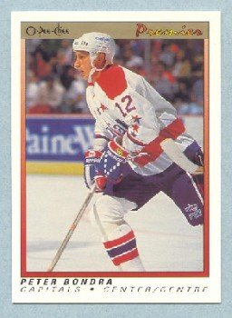 1990-91 OPC Premier # 7 -- Peter Bondra Rookie Card RC