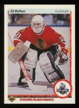 1990-91 UD # 55 -- Ed Belfour Rookie Card RC Blackhawks
