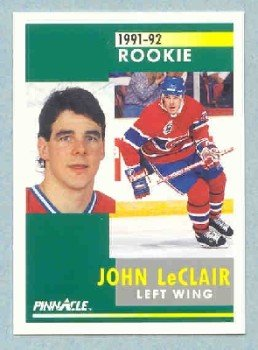 1991-92 Pinnacle # 322 -- John LeClair Rookie Card RC