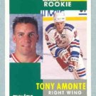 1991-92 Pinnacle # 301 -- Tony Amonte Rookie Card RC