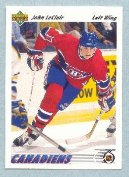 1991-92 UD # 345 -- John LeClair Rookie Card RC